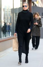 YOLANDA HADID Out and About in New York 02/12/2018