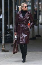 YOLANDA HADID Out in New York 02/15/2018