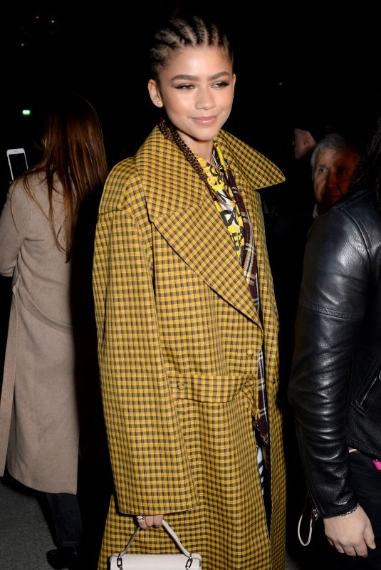 ZENDAYA at Burberry Show at London Fashion Week 02/17/2018