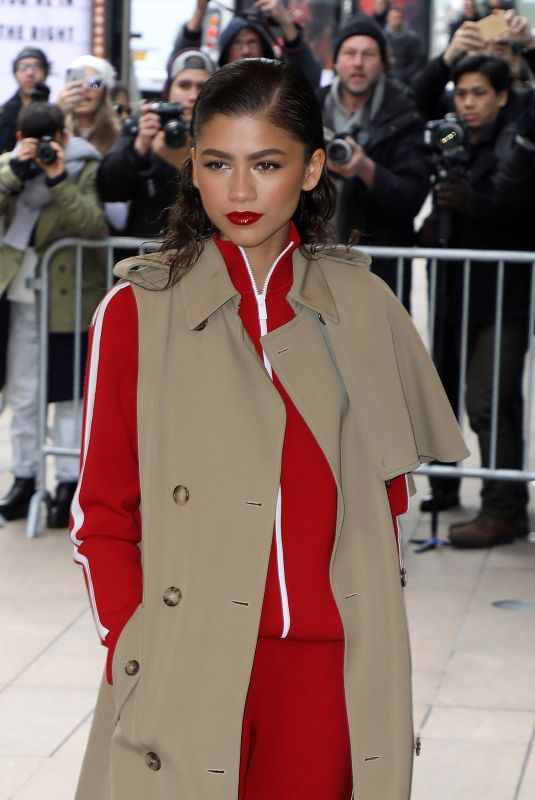 ZENDAYA COLEMAN Arrives at Michael Kors Fashion Show in New York 02/14/2018
