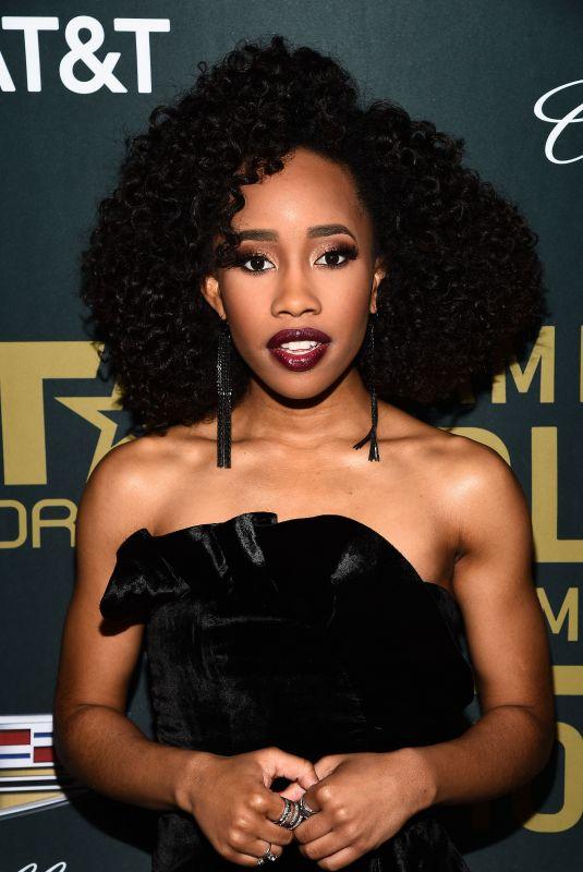 ZOE RENEE at American Black Film Festival in Los Angeles 02/25/2018