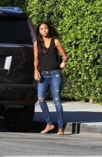 ZOE SALDANA Out and About in Los Angeles 02/07/2018