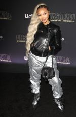 ZONNIQUE PULLINS at Unsolved the Murders of Tupac and the Notorious B.I.G. Premiere in Los Angeles 02/22/2018