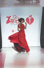 ZURI HALL in Gown by Galia Lahav at Red Dress 2018 Collection Fashion Show in New York 02/08/2018