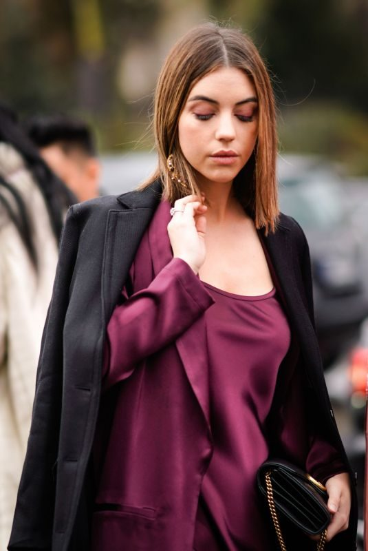ADELAIDE KANE Out at Paris Fashion Week 03/04/2018