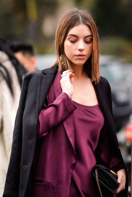 ADELAIDE KANE Out at Paris Fashion Week 03/04/2018