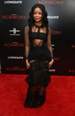 AJIONA ALEXUS at Acrimony Premiere in New York 03/27/2018