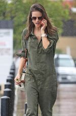 ALESSANDRA AMBROSIO in Jumpsuit Out in Los Angeles 03/21/2018