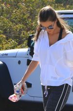 ALESSANDRA AMBROSIO Out Hiking in Hollywood Hills 03/29/2018