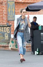 ALESSANDRA AMBROSIO Shopping at Whole Foods in Los Angeles 03/20/2018