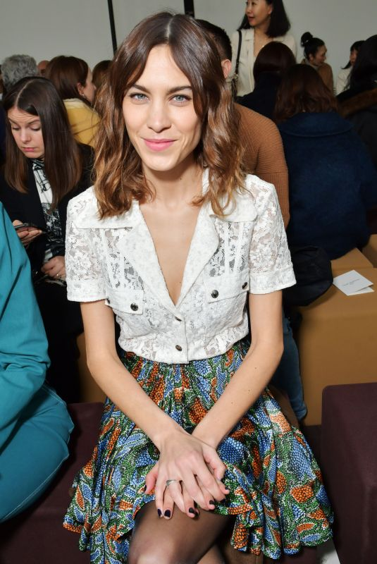 ALEXA CHUNG at Chloe Show at Paris Fashion Week 03/01/2018