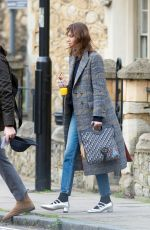 ALEXA CHUNG Out and About in London 03/19/2018