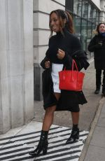 ALEXANDRA BURKE Arrives at BBC Radio 2 in London 03/20/2018