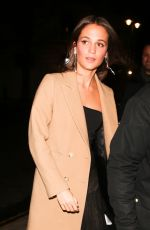 ALICIA VIKANDER Arrives at The One Show in London 03/05/2018