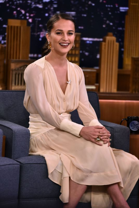 ALICIA VIKANDER at Tonight Show Starring Jimmy Fallon in New York 03/14/2018