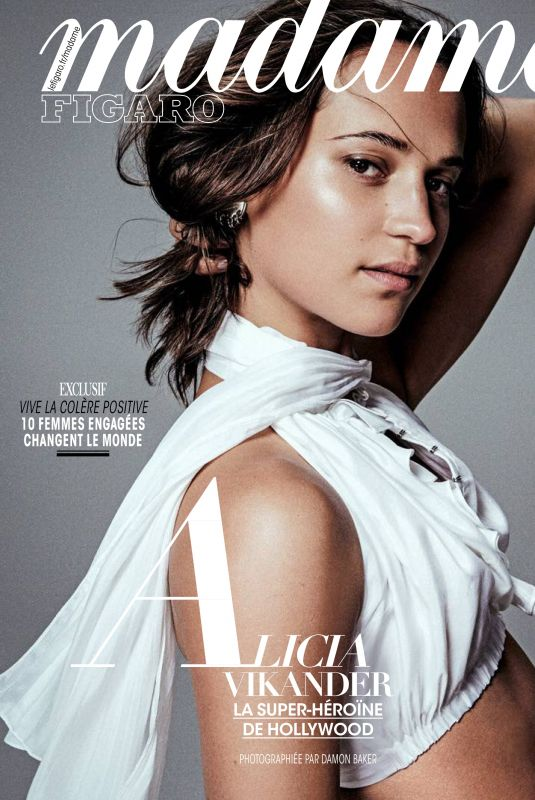ALICIA VIKANDER in Madame Figaro Magazine, March 2018