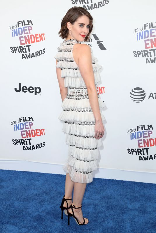ALISON BRIE at 2018 Film Independent Spirit Awards in Los Angeles 03/03/2018