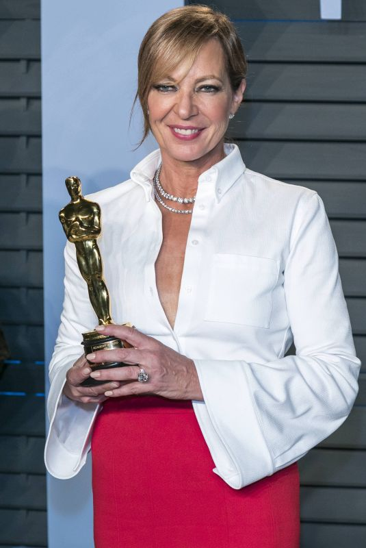 ALLISON JANNEY at 2018 Vanity Fair Oscar Party in Beverly Hills 03/04/2018