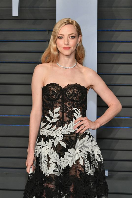 AMANDA SEYFRIED at 2018 Vanity Fair Oscar Party in Beverly Hills 03/04/2018