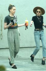 AMBER and WHITNEY HEARD Out for Lunch in Los Angeles 03/12/2018