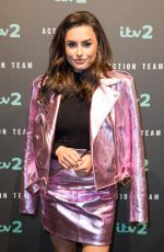 AMBER DAVIES at ITV2 Action Team Press Launch in London 01/03/2018