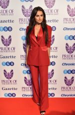 AMBER DAVIES at Pride of the North East Awards in Newcastle 03/27/2018