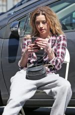 AMBER HEARD on the Set of Run Away with Me in Los Angeles 03/26/2018