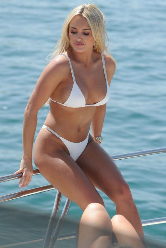 AMBER TURNER in Bikini on the Yacht in Dubai 03/10/2018