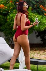 AMY CHILDS in Swimsuit at a Pool in Cape Verde 03/27/2018