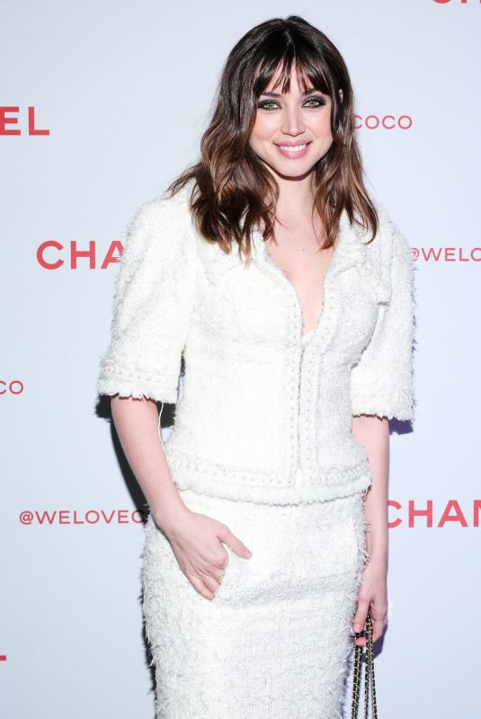 ANA DE ARMAS at Chanel Pre-Oscars Event in Los Angeles 02/28/2018
