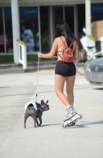 ANDREA CALLE in Bikini Top and Shorts Rollerblading in Miam 03/08/2018