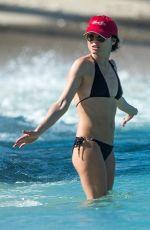 ANDREA CORR in Black Bikini at a Beach in Bridgetown 03/24/2018