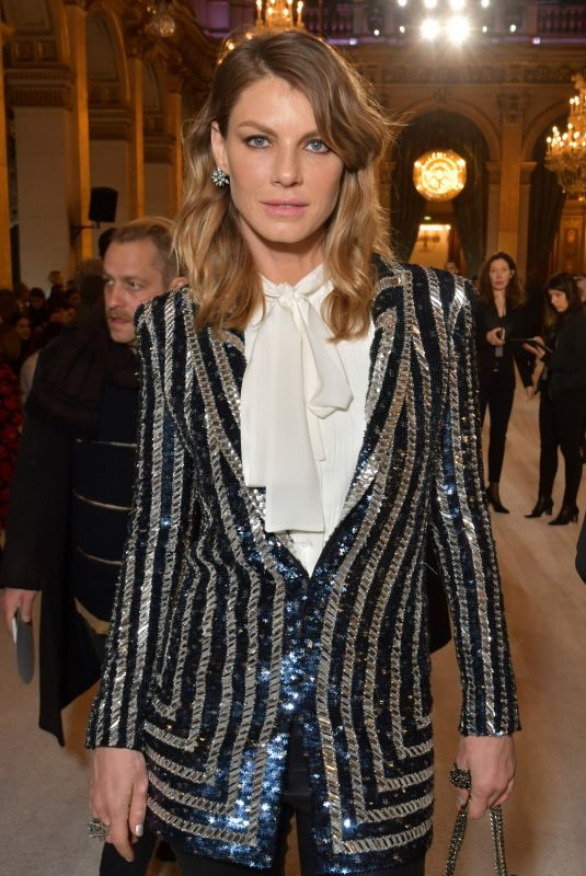 ANGELA LINDVALL at Balmain Fashion Show at Paris Fashion Week 03/02/2018