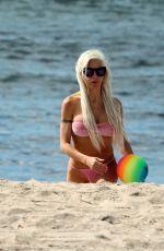 ANGELIQUE FRENCHY MORGAN in Bikini at a Beach in Malibu 03/06/2018