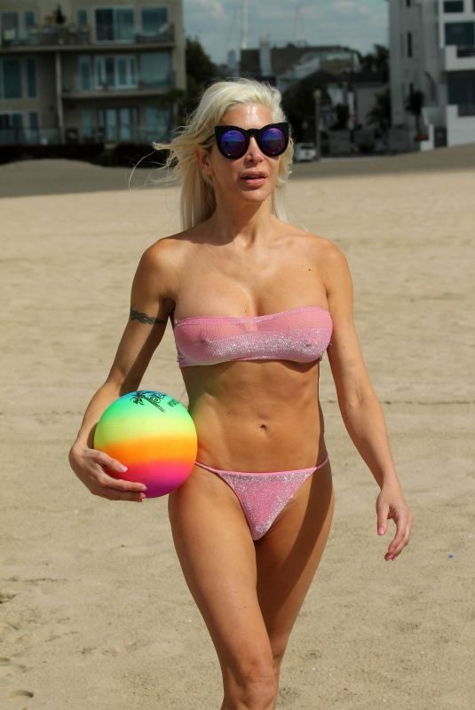 ANGELIQUE FRENCHY MORGAN in Bikini at a Beach in Malibu 03/06/2018