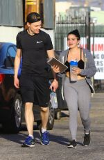 ARIEL WINTER and Levi Meaden Leaves a Gym in Los Angeles 03/08/2018