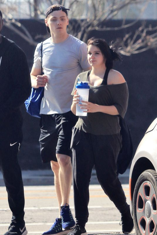 ARIEL WINTER and Levi Meaden Leaves a Gym in Los Angeles 03/24/2018