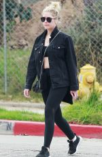 ASHLEY BENSON Heading to a Gym in Los Angeles 03/07/2018