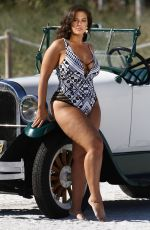 ASHLEY GRAHAM in Bikinis on the Set of a Photoshoot in Miami 03/15/2018