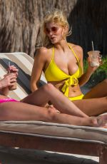 ASHLEY JAMES in Bikini at a Beach in Tulum 03/30/2018