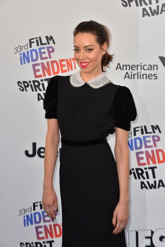 AUBREY PLAZA at 2018 Film Independent Spirit Awards in Los Angeles 03/03/2018