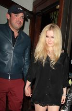 AVRIL LAVIGNE at Madeo Restaurant in West Hollywood 03/07/2018
