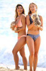 Beach Bunny Swimwear Models on the Set of a Photoshoot at Bronte Beach 03/20/2018