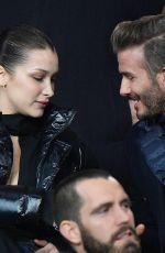BELLA HADID and David Beckham Paris Saint-Germain vs Real Madrid Game in Paris 03/06/2018
