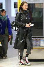 BELLA HADID Arrives at JFK Airport in New York 03/10/2018