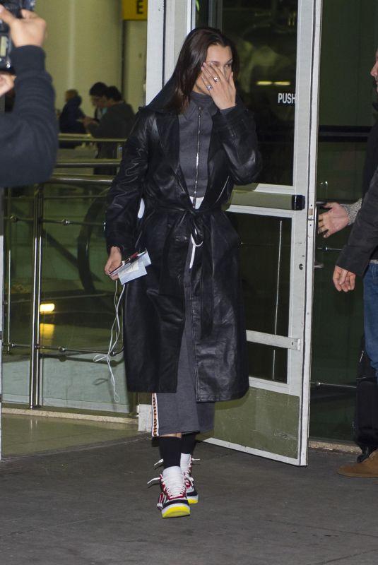 BELLA HADID at JFK Airport in New York 03/09/2018