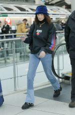 BELLA HADID at JFK Airport in New York 03/22/2018