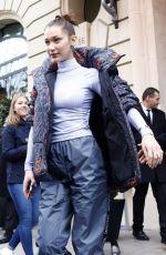BELLA HADID Leaves Her Hotel in Paris 03/05/2018