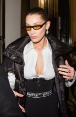 BELLA HADID Leaves Off-white Show at Paris Fashion Week 03/01/2018