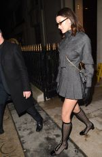 BELLA HADID Leaves Royal Monceau Hotel in Paris 03/01/2018